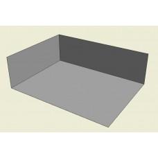 1.933m x 1.438m x 0.6m (quarter) EPDM Pond Open Box (1mm thick)