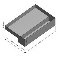 10.3m x 6.6m x 2.4m EPDM Pond Open Box (1mm thick)